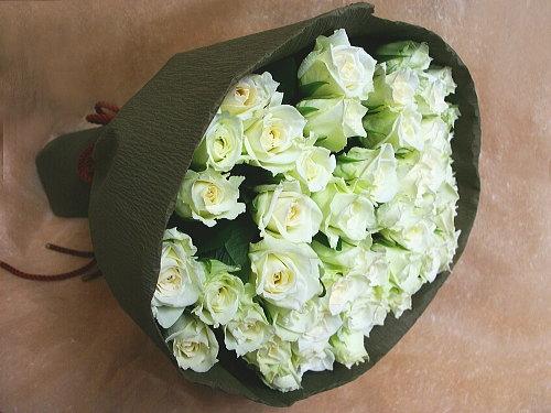 バラ花束【白系】