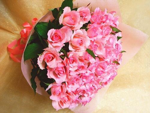 バラ花束【ピンク系】
