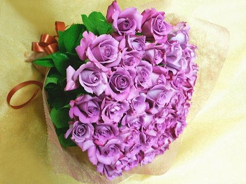 バラ花束【薄紫系】